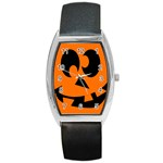 EBAYHALLOWCRAZYJack-o-Lanterns Barrel Style Metal Watch