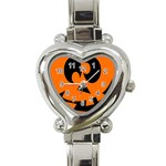 EBAYHALLOWCRAZYJack-o-Lanterns Heart Italian Charm Watch