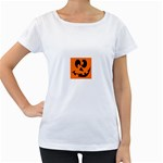 EBAYHALLOWCRAZYJack-o-Lanterns Maternity White T-Shirt