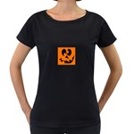 EBAYHALLOWCRAZYJack-o-Lanterns Maternity Black T-Shirt