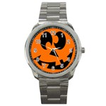 EBAYHALLOWCRAZYJack-o-Lanterns Sport Metal Watch