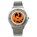 EBAYHALLOWCRAZYJack-o-Lanterns Stainless Steel Watch