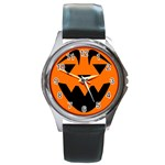 EBAYHALLOWQUIRKY Jack-o-Lanterns Round Metal Watch