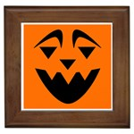 EBAYHALLOWQUIRKY Jack-o-Lanterns Framed Tile