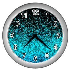 Glitter Dust 1 Wall Clock (silver) by MedusArt