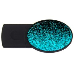 Glitter Dust 1 2gb Usb Flash Drive (oval) by MedusArt