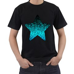 Glitter Dust 1 Mens' Two Sided T Shirt (black) by MedusArt