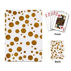 Tan Polka Dots Playing Cards Single Design by Colorfulart23
