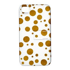 Tan Polka Dots Apple Iphone 4/4s Hardshell Case With Stand by Colorfulart23