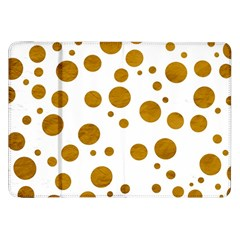 Tan Polka Dots Samsung Galaxy Tab 8.9  P7300 Flip Case by Colorfulart23