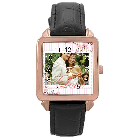 Love By Joely   Rose Gold Leather Watch    Vfotxbo1vrsj   Www Artscow Com Front