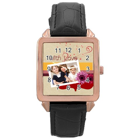 Love By Joely   Rose Gold Leather Watch    Gds0v0b7vsk9   Www Artscow Com Front