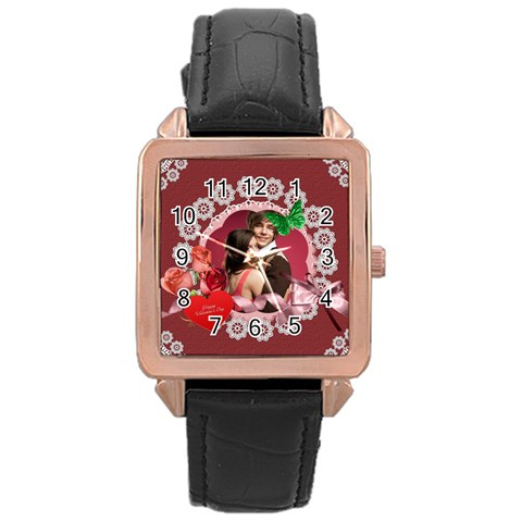 Love By Joely   Rose Gold Leather Watch    M3wt5w9hoquu   Www Artscow Com Front