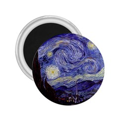 Vincent Van Gogh Starry Night 2 25  Button Magnet