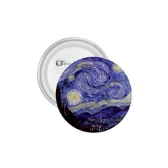 Vincent Van Gogh Starry Night 1 75  Button by MasterpiecesOfArt