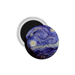 Vincent Van Gogh Starry Night 1 75  Button Magnet