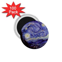Vincent Van Gogh Starry Night 1 75  Button Magnet (100 Pack) by MasterpiecesOfArt