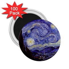 Vincent Van Gogh Starry Night 2 25  Button Magnet (100 Pack) by MasterpiecesOfArt