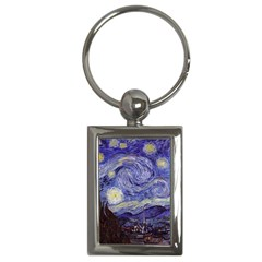 Vincent Van Gogh Starry Night Key Chain (Rectangle) by MasterpiecesOfArt