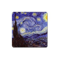 Vincent Van Gogh Starry Night Magnet (square) by MasterpiecesOfArt