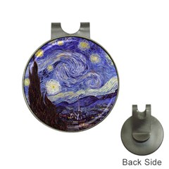 Vincent Van Gogh Starry Night Hat Clip With Golf Ball Marker by MasterpiecesOfArt