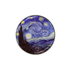 Vincent Van Gogh Starry Night Golf Ball Marker (for Hat Clip) by MasterpiecesOfArt
