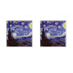 Vincent Van Gogh Starry Night Cufflinks (square) by MasterpiecesOfArt
