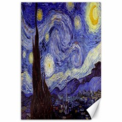 Vincent Van Gogh Starry Night Canvas 12  X 18  (unframed)