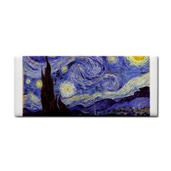 Vincent Van Gogh Starry Night Hand Towel by MasterpiecesOfArt
