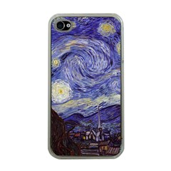 Vincent Van Gogh Starry Night Apple Iphone 4 Case (clear) by MasterpiecesOfArt
