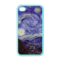 Vincent Van Gogh Starry Night Apple Iphone 4 Case (color) by MasterpiecesOfArt