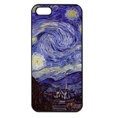 Vincent Van Gogh Starry Night Apple Iphone 5 Seamless Case (black) by MasterpiecesOfArt