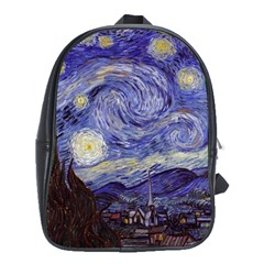 Vincent Van Gogh Starry Night School Bag (XL) by MasterpiecesOfArt