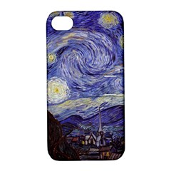 Vincent Van Gogh Starry Night Apple Iphone 4/4s Hardshell Case With Stand by MasterpiecesOfArt