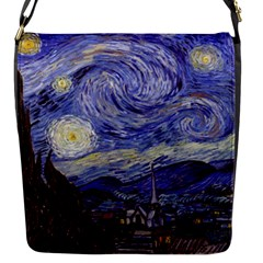Vincent Van Gogh Starry Night Flap Closure Messenger Bag (small) by MasterpiecesOfArt