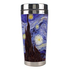 Vincent Van Gogh Starry Night Stainless Steel Travel Tumbler by MasterpiecesOfArt