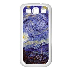 Vincent Van Gogh Starry Night Samsung Galaxy S3 Back Case (white) by MasterpiecesOfArt