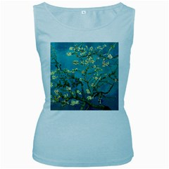 Vincent Van Gogh Blossoming Almond Tree Womens  Tank Top (baby Blue)