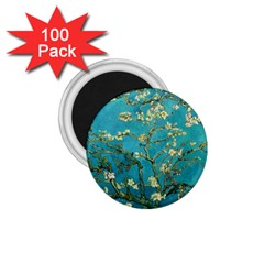 Vincent Van Gogh Blossoming Almond Tree 1 75  Button Magnet (100 Pack) by MasterpiecesOfArt