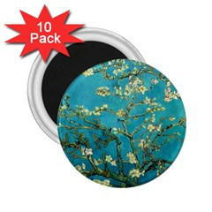 Vincent Van Gogh Blossoming Almond Tree 2 25  Button Magnet (10 Pack) by MasterpiecesOfArt
