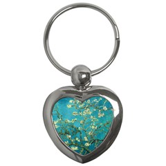 Vincent Van Gogh Blossoming Almond Tree Key Chain (heart) by MasterpiecesOfArt