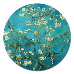 Vincent Van Gogh Blossoming Almond Tree Magnet 5  (round)