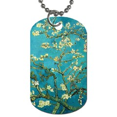 Vincent Van Gogh Blossoming Almond Tree Dog Tag (One Sided) by MasterpiecesOfArt