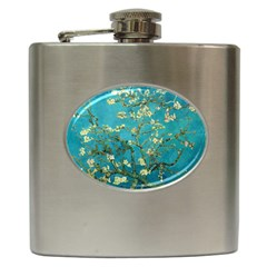 Vincent Van Gogh Blossoming Almond Tree Hip Flask by MasterpiecesOfArt