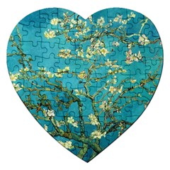 Vincent Van Gogh Blossoming Almond Tree Jigsaw Puzzle (heart) by MasterpiecesOfArt