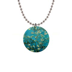 Vincent Van Gogh Blossoming Almond Tree Button Necklace by MasterpiecesOfArt