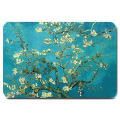 Vincent Van Gogh Blossoming Almond Tree Large Door Mat by MasterpiecesOfArt