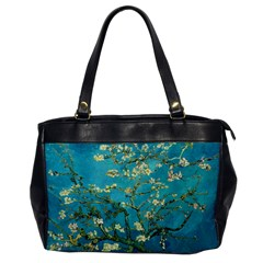 Vincent Van Gogh Blossoming Almond Tree Oversize Office Handbag (one Side) by MasterpiecesOfArt