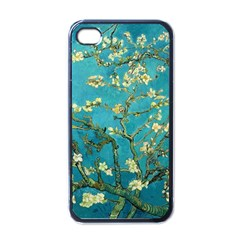 Vincent Van Gogh Blossoming Almond Tree Apple Iphone 4 Case (black) by MasterpiecesOfArt