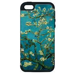 Vincent Van Gogh Blossoming Almond Tree Apple Iphone 5 Hardshell Case (pc+silicone) by MasterpiecesOfArt